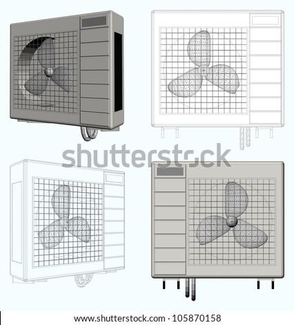 Outdoor Unit of Air Conditioner Vector 03
