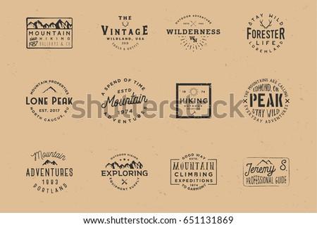 outdoor wilderness logos ...