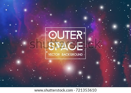 Outer space futuristic background with cosmos and sky.