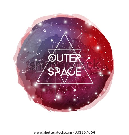 Outer space futuristic watercolor background cosmic for Outer image design