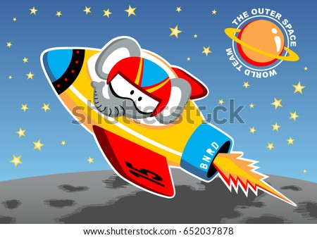 outer space mission  vector