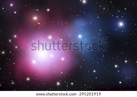 outer space vector background