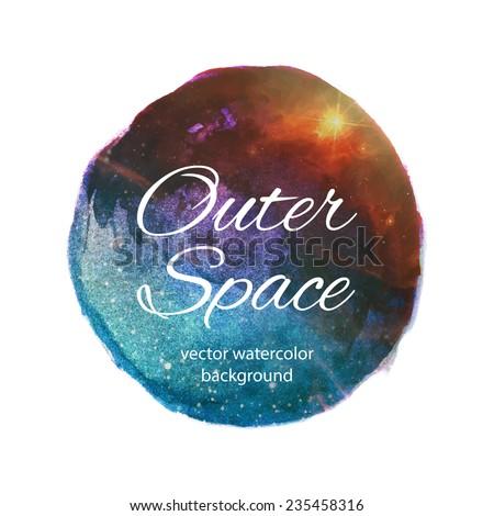 Outer space vector watercolor design
