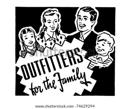 Outfitters For The Family - Retro Ad Art Banner