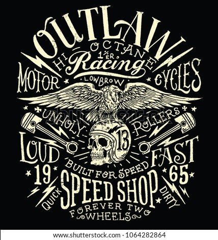 outlaw motors vintage t shirt