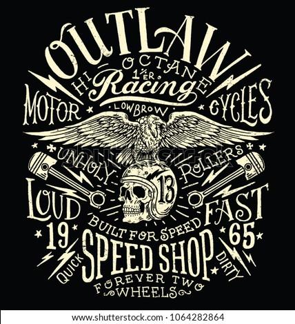 outlaw motors vintage t shirt
