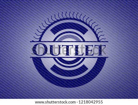 Outlet badge with denim background