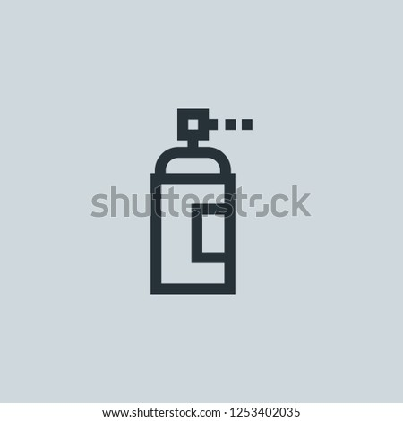 Outline aerosol vector icon. Aerosol illustration for web, mobile apps, design. Aerosol vector symbol.
