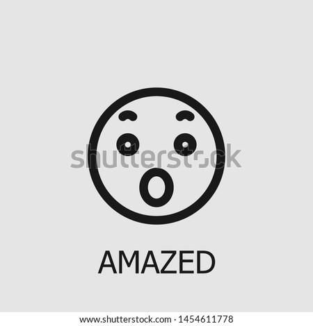 outline amazed vector icon