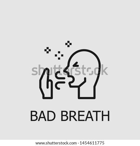 Outline bad breath vector icon. Bad breath illustration for web, mobile apps, design. Bad breath vector symbol.