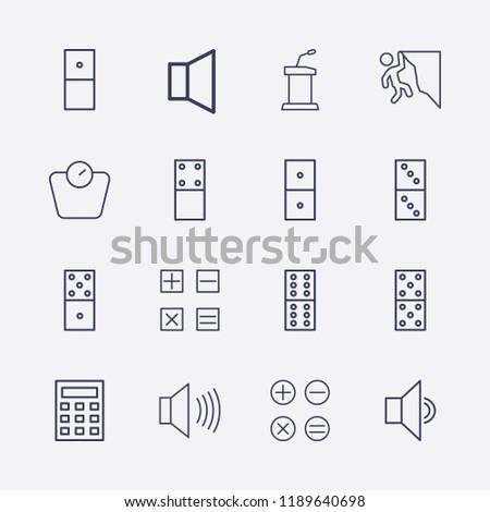 outline 16 balance icon set