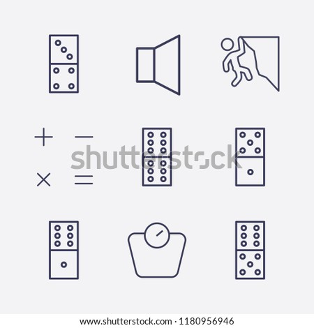 outline 9 balance icon set