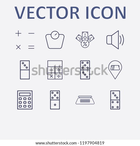 outline 12 balance icon set