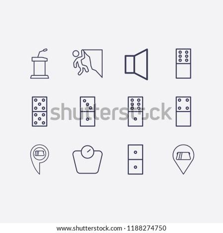 outline 12 balance icon set
