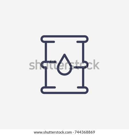Outline barel oil icon illustration vector symbol