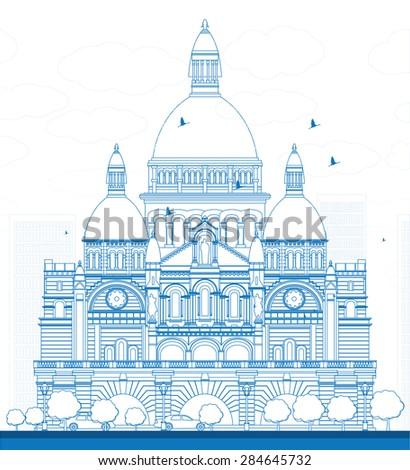outline basilica of the sacred