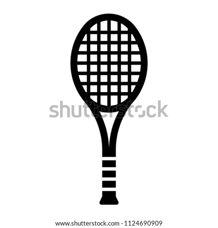 Outline beautiful tennis racket vector icon