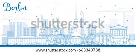 outline berlin skyline with