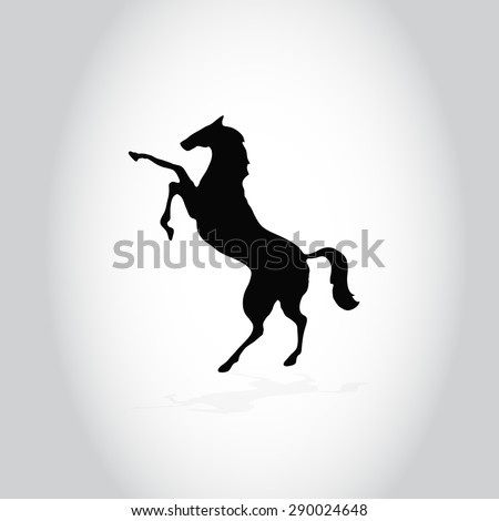 outline black a rearing horse