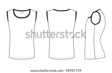 stock vector : Outline black-white t-shirt vector illustration isolated on
