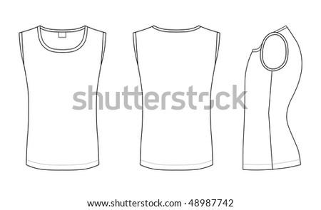 outline black white t shirt