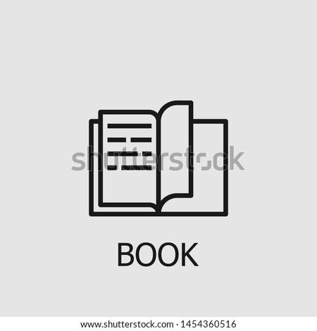 Outline book vector icon. Book illustration for web, mobile apps, design. Book vector symbol. Сток-фото ©