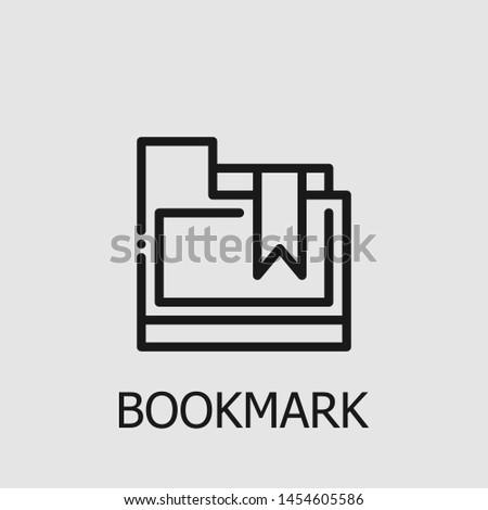 Outline bookmark vector icon. Bookmark illustration for web, mobile apps, design. Bookmark vector symbol.