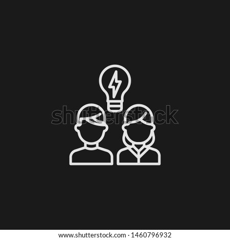 Outline brainstorming vector icon. Brainstorming illustration for web, mobile apps, design. Brainstorming vector symbol.