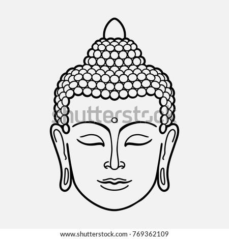 outline buddha head