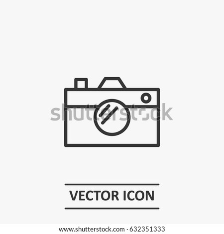 Outline camera  icon illustration vector symbol