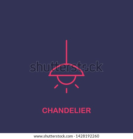 Outline chandelier icon.chandelier vector illustration. Symbol for web and mobile