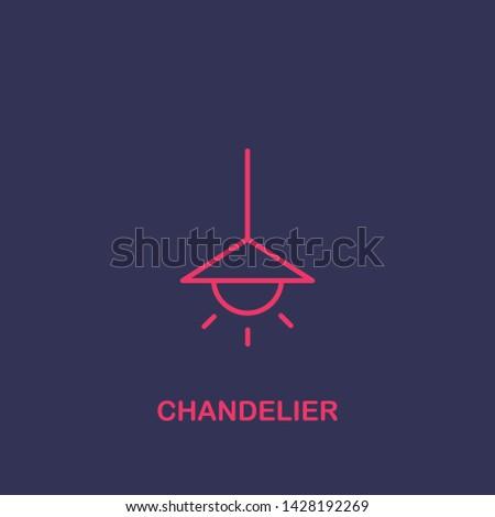 Outline chandelier icon.chandelier vector illustration. Symbol for web and mobile