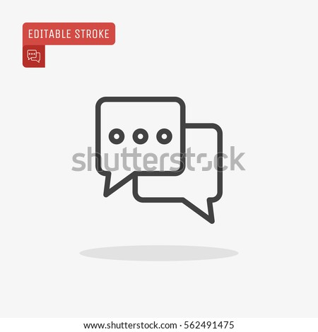 outline chat icon isolated on