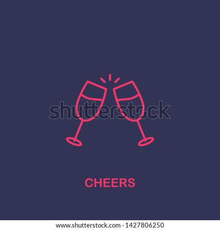 Outline cheers icon.cheers vector illustration. Symbol for web and mobile