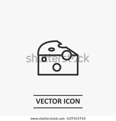 Outline  cheese  icon illustration vector symbol