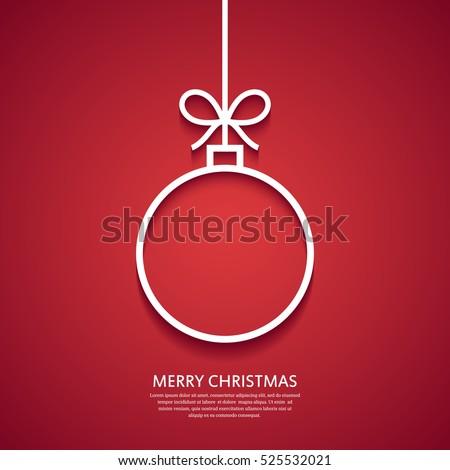 outline christmas ball minimal