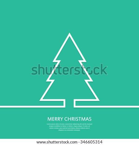 outline christmas tree