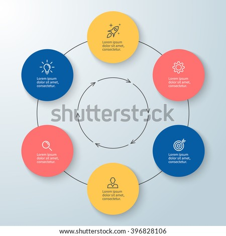 outline circular infographic