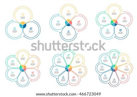 outline circular infographics