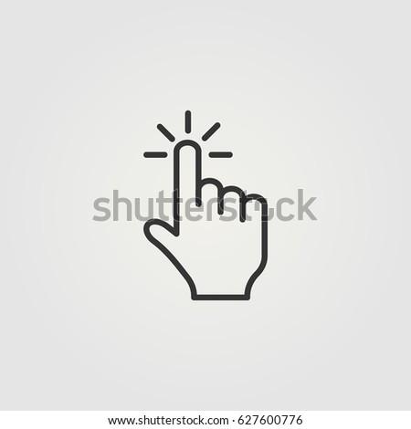Outline click  icon illustration vector symbol