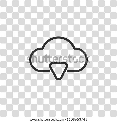 outline cloud download simple