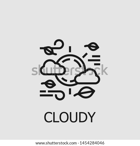 Outline cloudy vector icon. Cloudy illustration for web, mobile apps, design. Cloudy vector symbol.
