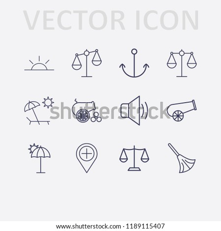 outline 12 coast icon set
