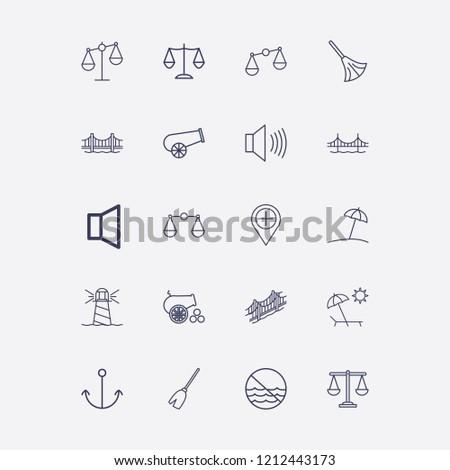 outline 20 coast icon set