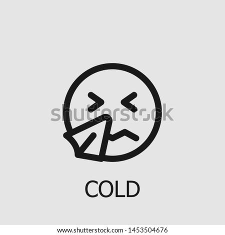 Outline cold vector icon. Cold illustration for web, mobile apps, design. Cold vector symbol.