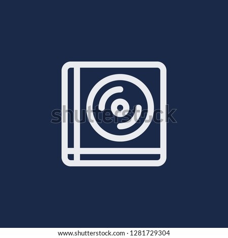 Outline compact disk vector icon. Compact disk illustration for web, mobile apps, design. Compact disk vector symbol.