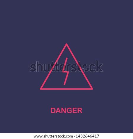 Outline danger icon.danger vector illustration. Symbol for web and mobile