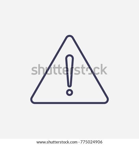 Outline danger sign icon illustration vector symbol