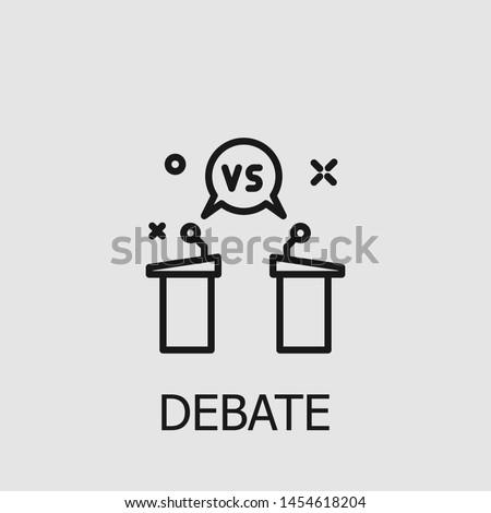 Outline debate vector icon. Debate illustration for web, mobile apps, design. Debate vector symbol. Photo stock ©