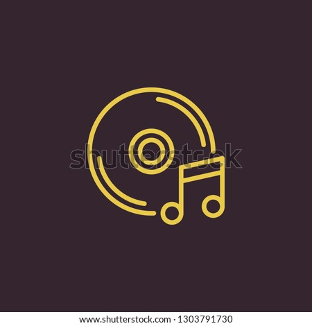Outline disk vector icon. Disk illustration for web, mobile apps, design. Disk vector symbol.
